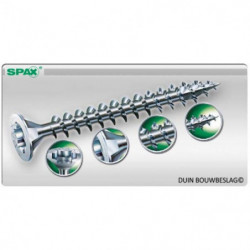 SPAX SPAANPLAATSCHROEF TORX T20 RVS 5.0X90 PK. (100)
