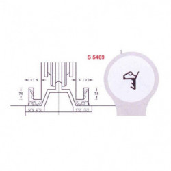 DEVENTER DICHTINGSPROFIEL S5469 TBV.RAIL 295 2800x2800mm